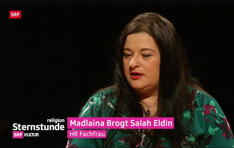 Ausschnitt aus der Fernsehsendung SRF Sternstunde Religion - Madlaina Brogt Salah Eldin